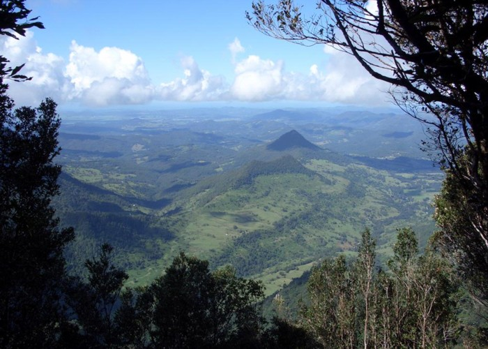 View from rim of Tweed Volcano