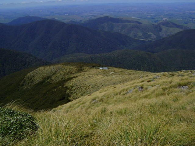 Jumbo hut on a rare perfect Tararua day
