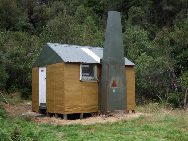 "The hut that was transformed into the ""new"" Mt Brown hut  2009"