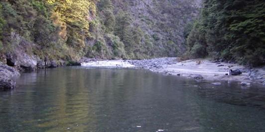 River beside Ngaawapurua Hut