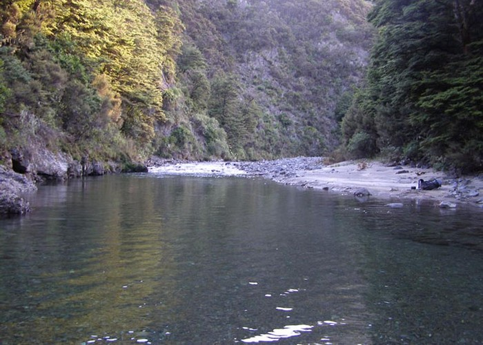 River beside Ngaawapurua Hut