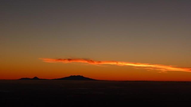 Pre-Dawn Mount Ruapehu from Mount Taranaki